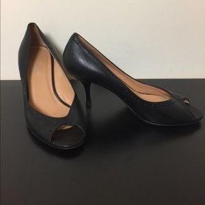 Banana Republic Italian Leather Peep Toe Shoes